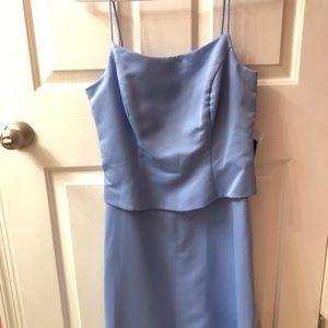 Light Blue Full Length Bridesmaid dress